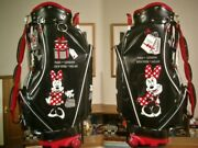 Rare Disney Minnie Mouse Women 's On Casters Leather With Ad Skin Black Red And
