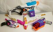 Nerf Rebelle Set Rapid Glow, Blaster, Bow And Pistol. Works, Tested Nerf War Lot