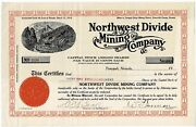 108 Northwest Divide Mining Company - Owned By Prominent Nevadian Cada C Boak