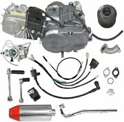 Lifan 140cc 4 Stroke Engine Motor Muffler Exhaust With Pipe Carby Crf50 Xr70 Atv
