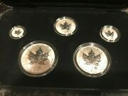 2004 Reverse Proof Silver Canadian Maple Leaf 2 / 5-coin Sets W/ Rcm Logo Privy