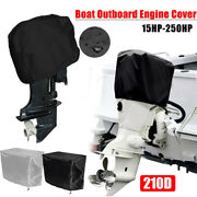 Waterproof Boat Motor Cover Outboard Engine Oxford Fabric Durable Protector Tool