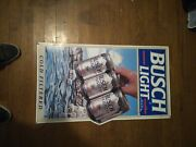 Busch Light Cold Filtered Tin Beer Sign Used 29×16