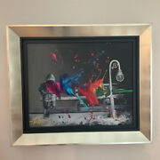 Kre8 / Kevin Vigilday Dream Framed Mixed Media With Acrylic Painting On Canvas