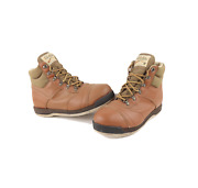 Vintage 90s Cabelas Outdoor Leather Felt Bottom Fly Fishing Boots Brown Mens 10