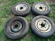 1966-1974 Land Rover 16x5.5 Inch Wheels. Set Of 4 . Original Used.