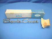 Nos 1964 Ford Falcon Fairlane Sports Coupe Roof Emblem Ct30