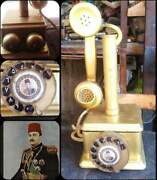 Farouk King Vintage Telephone Antique, Working Well, For Original Antique Col
