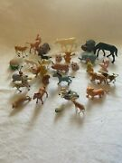 Vintage Made In Hong Kong Toy Animals Lot Rare Collectible
