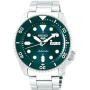 Seiko 5 Automatic Green Dial Steel Bracelet Menand039s Watch Srpd61