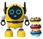 Space Lion Spinning Top, Toys-spin Tops, Multi-function Mini Robot Yellow