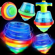 Proloso 12 Pack Light Up Spinning Tops Glow In The Dark Spin Toys Led...