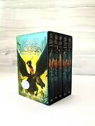 Percy Jackson And The Olympians 5 Book Paperback Boxed Set W/poster