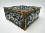 Indian Artand039s And Craftand039s Nice Brass Copper Silver Box Krishna
