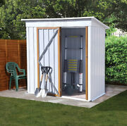 5ft X 3ft Metal Shed Outdoor Garden Storage Shed Tool Storage House White Modern