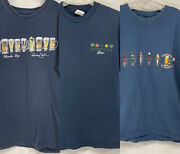 Lot Of 3 Mens Beer T-shirts Nice Graphics Taps Drafts Bottles Caps Sz Xxl Used A