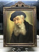 Old Man Portray Of An Old Scholar Topman H J 1907 - Oil Mid 20th Cent