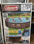 """Coleman Power Steel Frame 18' X 48"""" Round Above Ground Pool Free Colorado Pickup"""
