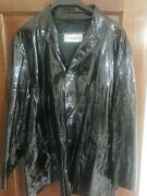 Amazing Dolce And Gabbana Patent Leather Sports Jacket Size 54 Xl Msrp 3500