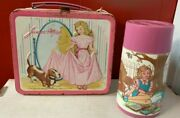 Pink Vintage 1970s Junior Miss Lunchbox With Thermos