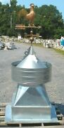 Large Galvanized Barn Cupolarooster Copper And Brass Weathervane Included.