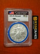 2008 W Burnished Silver Eagle Pcgs Sp70 Reverse Of 2007 Mercanti Engraver Series