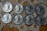 Lot Of 8 1979-p Susan B. Anthony Liberty Dollar Coins Circulated Ungraded