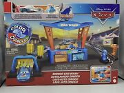 Disney Pixar Cars Toys Color Changer Dinoco Car Wash Playset W/ Pitty And Mcqueen