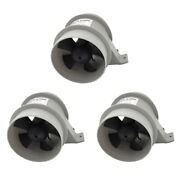 3x 12v 4a High Air Flow Boat Quiet Bilge Blower Waterproof 4and039and039 Diameter