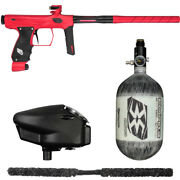 Sp Shocker Amp Competition Paintball Gun Package Kit - Red/black W/ 68/4500
