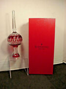 Waterford Clarendon Ruby Red Cased Crystal Christmas Tree Topper With Box