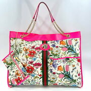 Sherry Line Rajagrande Flora Tote Bag Coated Canvas Leather No.7547