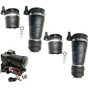 5 Piece Air Suspension Kit Front And Rear Air Springs W/ Compressor For Ford