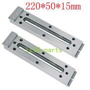 2x Cnc Wire Edm Fixture Board Stainless Jig Tool For Clamp And Level 220x50x15mm