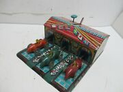 Auto Race 3 Car Race Set Excellent Cond All Tin Made In Japan By Haji Works
