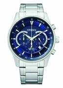 Citizen Menand039s Chronograph Quartz Blue Dial Stainless Steel Watch An8190-51l New