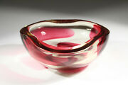 Heavy Glass Bowl Glasschale Intarso Bullicante Wohl/likely Barovier And Taso C1950