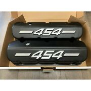Big Block Chevy 454 Tall Valve Covers Black With Raised Logo - Ansen Seconds