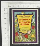 Usa Garden And Flower Show, Chicago Vintage Poster Stamp