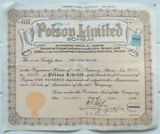 India Polson Butter 1966 Share Certificate