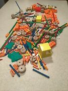 Vintage Wooden And Plastic Tinker Toys Replacement Parts Mixed Lot Of Approx 220