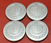 2001-2004 Cadillac Cts Seville Center Caps Silver Hubcaps 9594649 Set Of 4