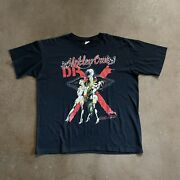 Vintage 80s Motley Crue Dr X Feelgood Tour Tee Size Xl Double Sided