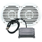 Jensen Cpm50 2-channel Bluetooth Amplifier And A Pair Of 5 Waterproof Speakers