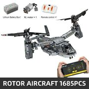 Remote Control Helicopter Bell-boeing V-22 Osprey Model Building Blocks Toy New