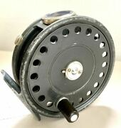 St. George 3/4 Old Antique Reel Rhw With Agate Line Guide Good Finish