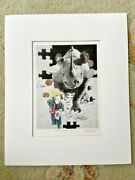 Signed F. Gastelum Rhino And Boy Print Matted In My Wildest Dreams