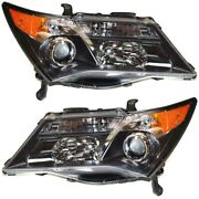 Headlight Set For 2007-2009 Acura Mdx Left And Right With Sport Package 2pc