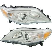 Headlight Set For 2011-2012 Toyota Avalon Left And Right With Bulb Capa 2pc