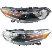 Headlight Set For 2009-2014 Acura Tsx Left And Right Hid Capa 2pc